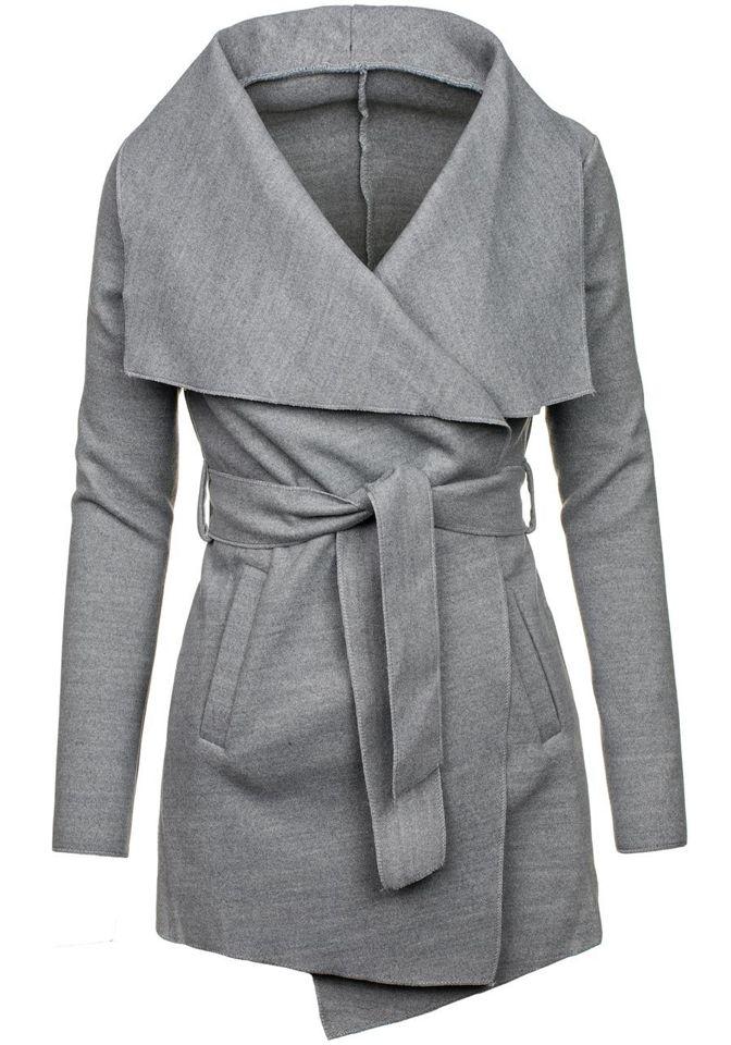 ... Сіре жіноче пальто Bolf 1726 ... 5fc81434dbb95
