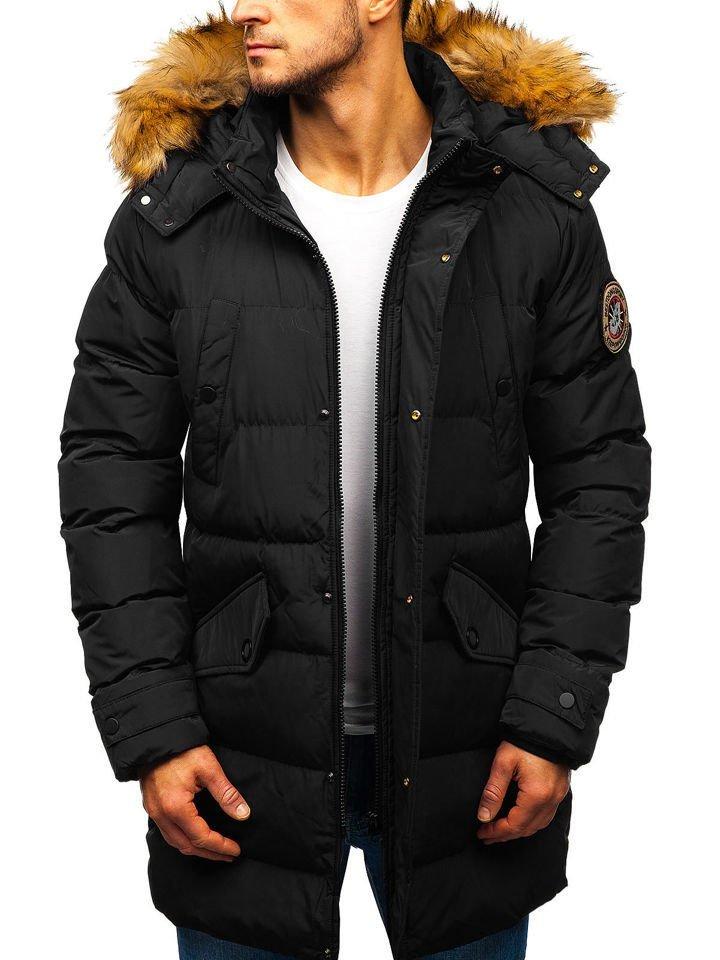 Чоловіча зимова куртка парка чорна Bolf 5314 ЧОРНИЙ 9c2af610bc269