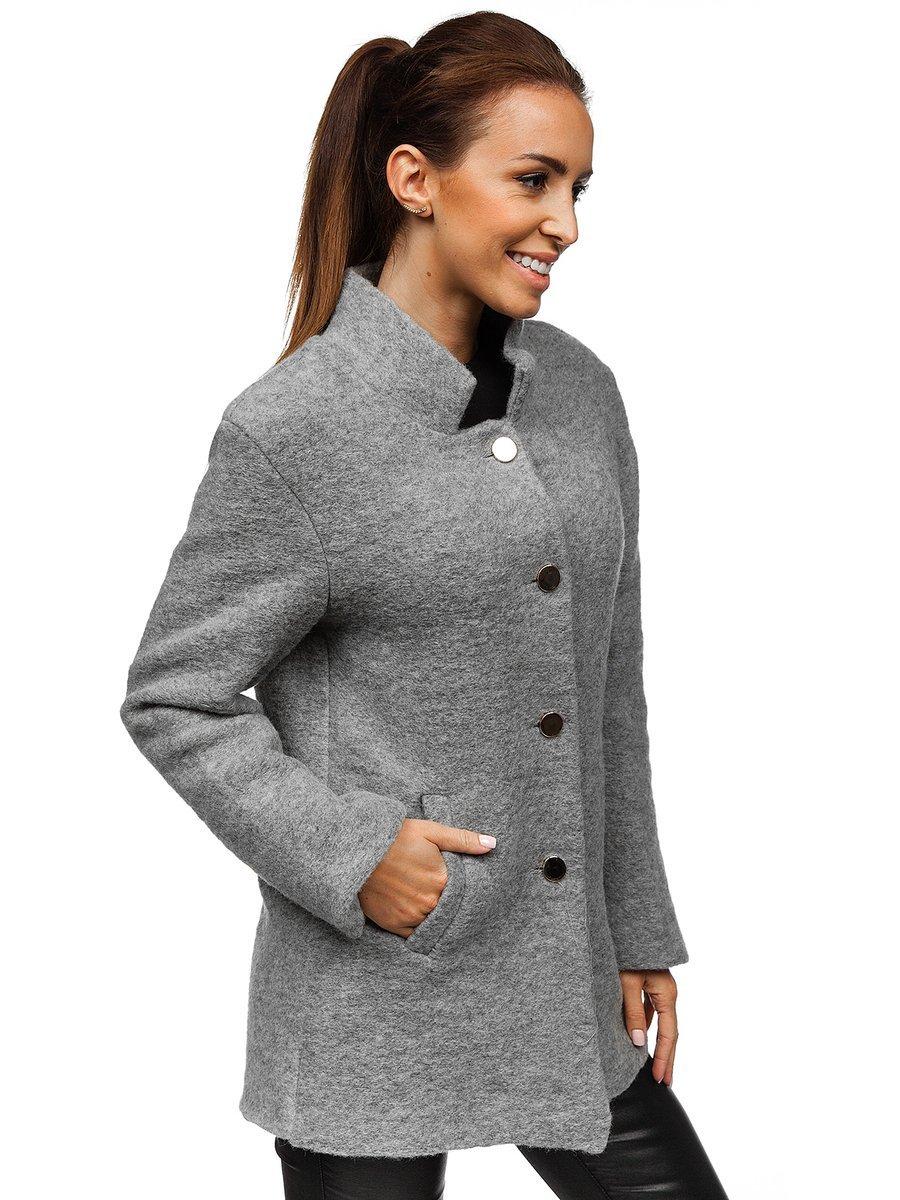 ... Жіноча пальто сіре Bolf 1950 ... e9bdb8c4acbd4