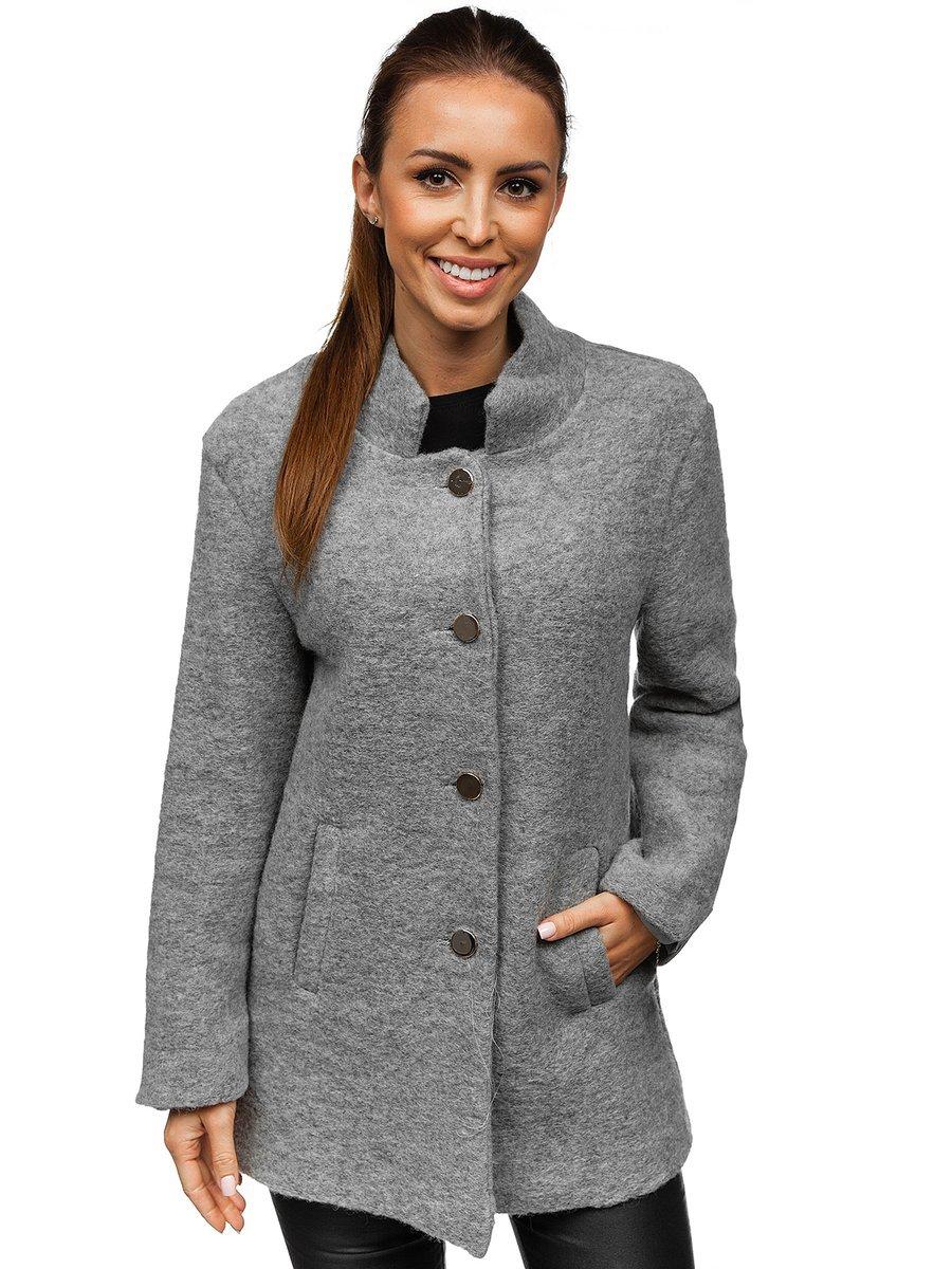 Жіноча пальто сіре Bolf 1950 SZARY e31e398b3e5ee