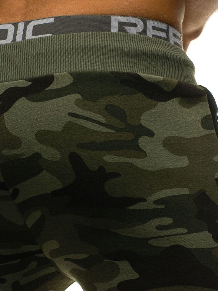 Чоловічі трикотажні штани джогери камуфляж-зелені Bolf ML230 ЗЕЛЕНИЙ 8f060efd7aa12