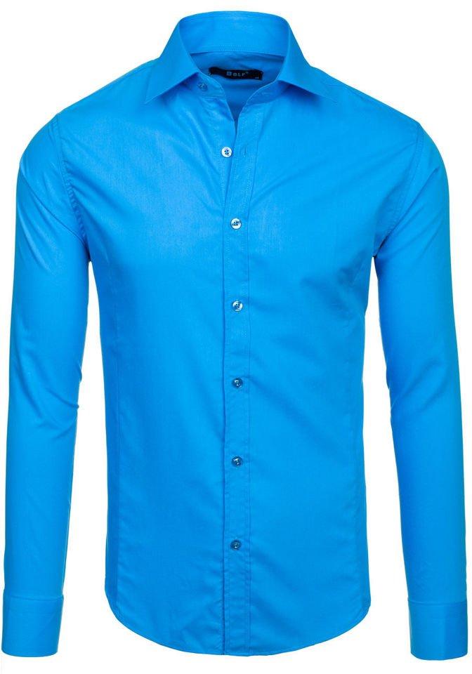 26e620323b271aa Рубашка мужская BOLF 1703 бирюзовая БИРЮЗОВЫЙ