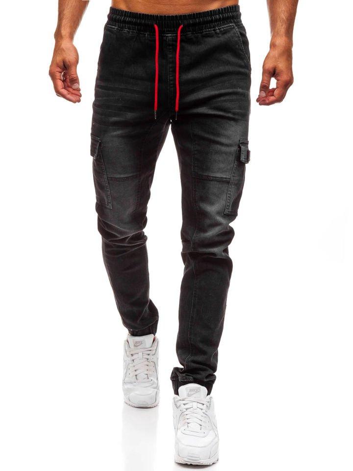 Чоловічі джинсові штани джогери чорні Bolf Y262 ЧОРНИЙ 68eab313f732c