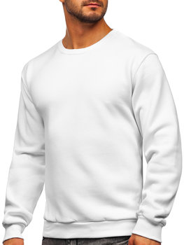 Белая мужская толстовка без капюшона Bolf 2001