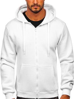 Белая мужская толстовка с капюшоном Bolf 2008