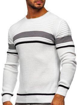 Белый мужской свитер Bolf 1061
