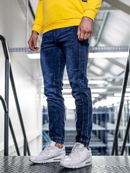 Брюки мужские джинсы джоггеры темно-синий Bolf HY562