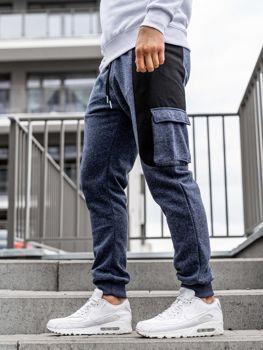 Брюки мужские спортивные джоггеры темно-синие Bolf Q3774