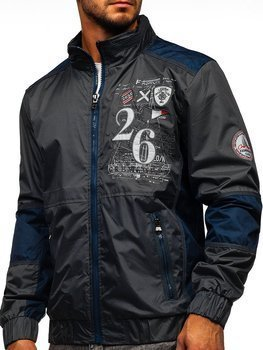 Графитовая мужская демисезонная куртка Bolf 742