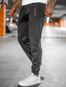 Графитовые мужские спортивные брюки Bolf JX9515