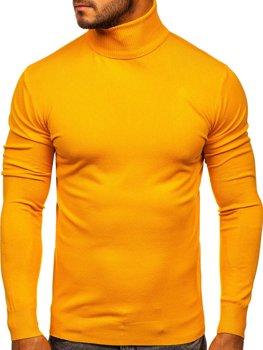 Желтая мужской свитер гольф Bolf YY02