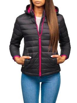 Женская демисезонная куртка графитовая Bolf AB054