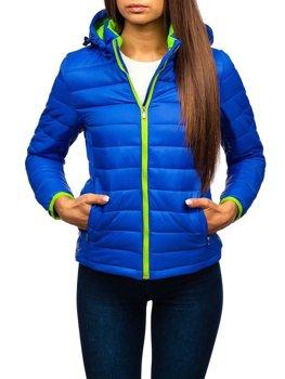 Женская демисезонная куртка синяя Bolf AB054