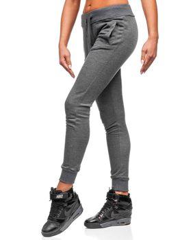 Женские спортивные брюки графитовые Bolf WB11003-A