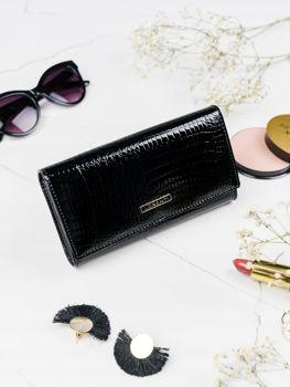 Женский кожаный кошелек черный 2102