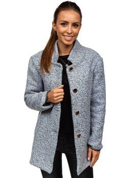 Женское пальто серое Bolf 6011-1