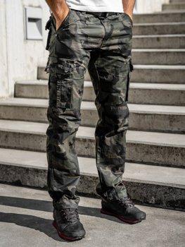 Зеленые мужские брюки-карго с поясом Bolf 2096