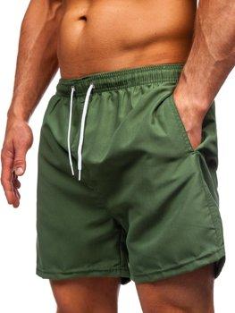 Зеленые мужские пляжные шорты Bolf ST001