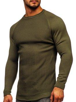 Зеленый мужской свитер Bolf 1009