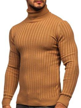 Коричневый мужской свитер гольф Bolf 4602