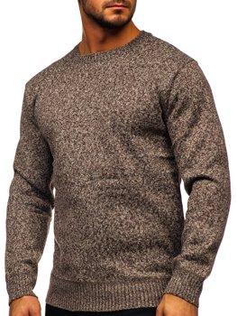 Коричневый утепленный мужской свитер Bolf 7M117