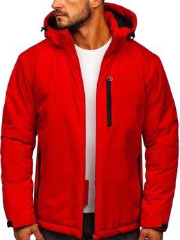 Красная мужская зимняя спортивная лыжная куртка Bolf HH011
