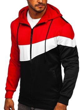Красная мужская толстовка с капюшоном на молнии Bolf HY753