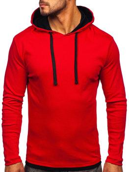 Красная мужская толстовка с капюшоном Bolf 03