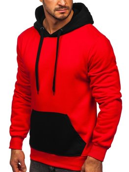 Красная мужская толстовка с капюшоном Bolf LM77001
