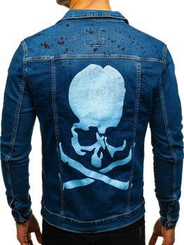 Куртка джинсовая мужская темно-синяя Bolf 2052-1