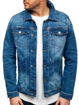 Куртка джинсовая мужская темно-синяя Bolf AK585