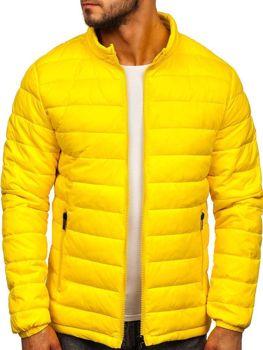 Куртка мужская демисезоная стеганая желтая Bolf 1119