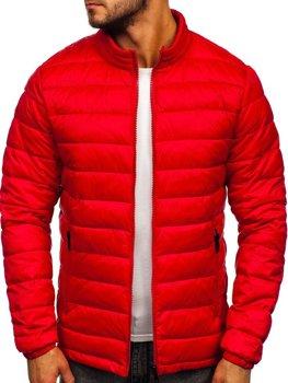 Куртка мужская демисезоная стеганая красная Bolf 1119
