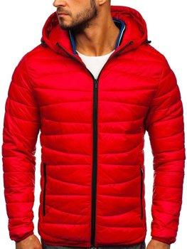 Куртка мужская демисезоная стеганая красная Bolf 1139