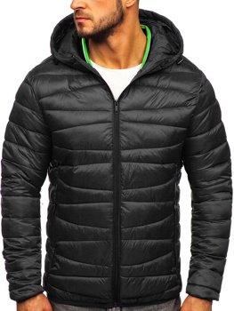 Куртка мужская демисезоная стеганая черная Bolf 1139