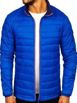 Куртка мужская демисезонная спортивная синяя Bolf LY1017