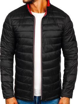 Куртка мужская демисезонная спортивная черная Bolf LY1017