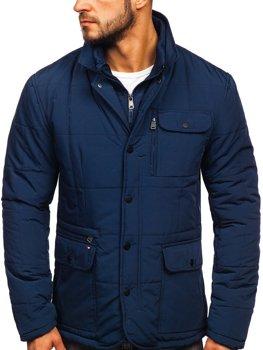 Куртка мужская демисезонная элегантная темно-синяя Bolf 1976
