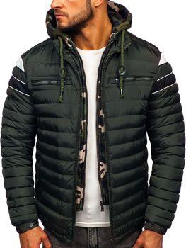 Куртка мужская зимняя спортивная стеганая хаки Bolf 50A465