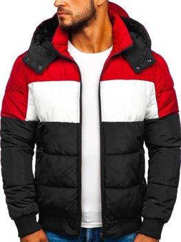 Куртка мужская зимняя спортивная черная Bolf Jk396