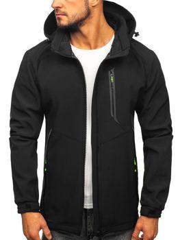 Куртка мужская софтшелл черно-желтая Bolf 12266