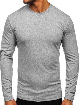Лонгслив мужской без принта серый Bolf 172007