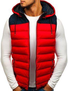 Мужская безрукавка с капюшоном красная Bolf 5371-A