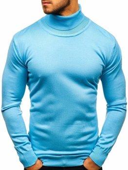 Мужская водолазка голубая Bolf 2400