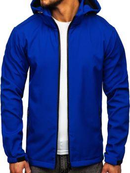 Мужская демисезонная куртка софтшелл синяя Bolf 56008