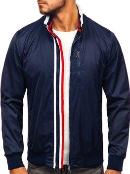 Мужская демисезонная куртка темно-синяя Bolf K01