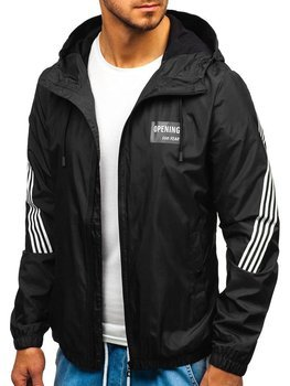 Мужская демисезонная куртка черная Bolf 5687