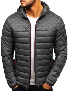 Мужская демисезонная спортивная куртка графитовая Bolf LY1010