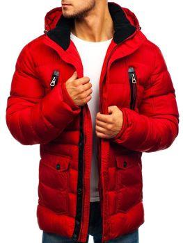 Мужская зимняя куртка красная Bolf 48884