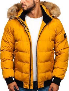Мужская зимняя куртка кэмел Bolf 5975